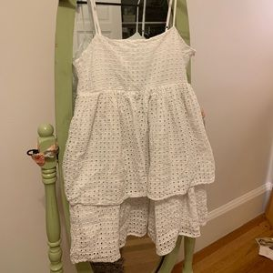 Urban Outfitters Empire waist white ruffled dress